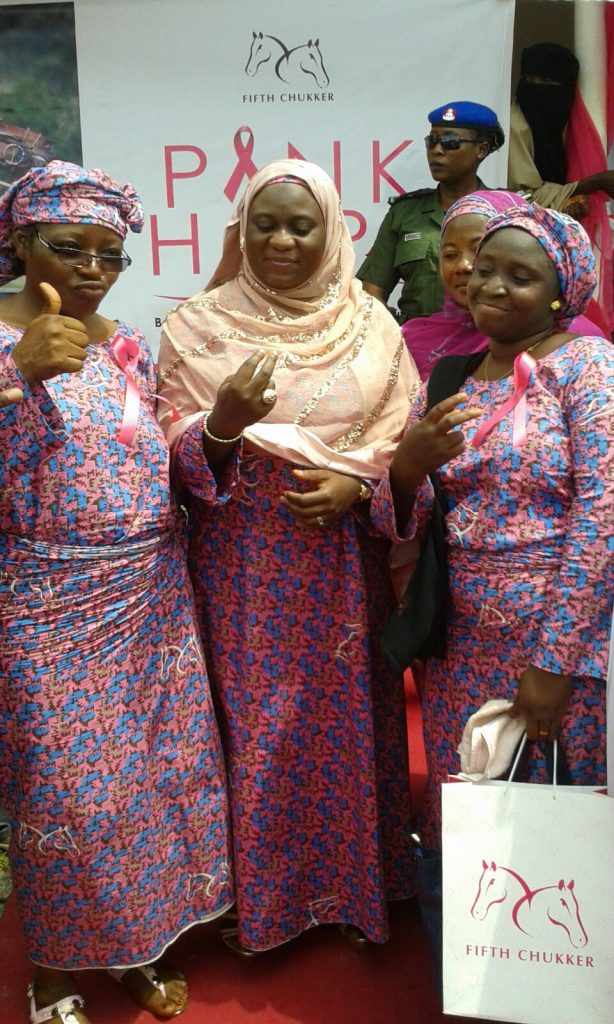 Cesnabmihilo Dorothy Aken'Ova; Dr Amina Bello, First Lady of Niger State; and Mrs Abu.