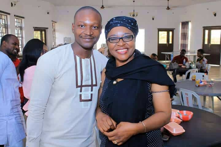 Gbayi United, December 28, 2017: Cesnabmihilo Dorothy Aken'Ova with her nephew and poineer INCRESE volunteer, Jefferey Nuhu.