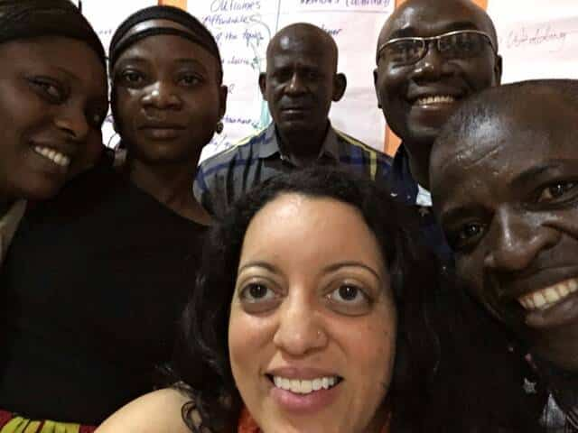 Capacity Building Workshop, 2017: Erin Williams of the IWHC with Anthony Gamut and other staff of INCRESE